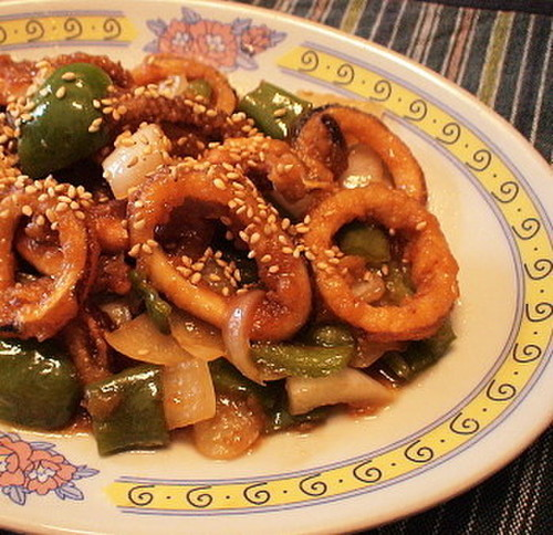 Refreshing Squid Stir-Fry with Pre-Made Sushi Vinegar