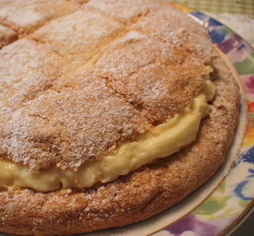 Sweet and Fluffy Custard Cake