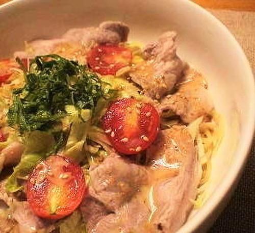 Chinese-Style Cold Noodles with Pork Shabu-Shabu
