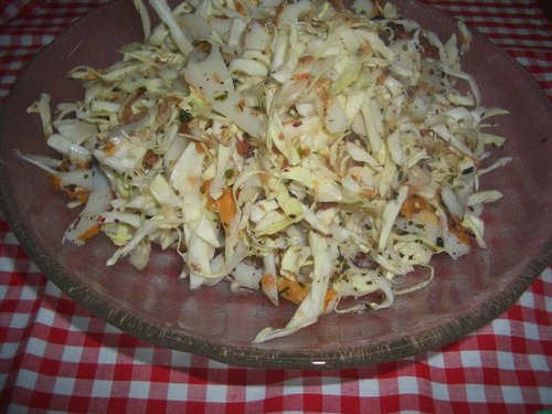 Refreshing Umeboshi and Shiso Cabbage Salad