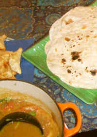 Chapati with Atta (Whole Wheat Flour)