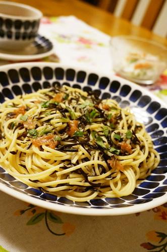Hijiki and Umeboshi Spaghetti