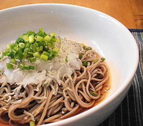 Soba Noodles with Chirimen Jako and Grated Daikon Radish