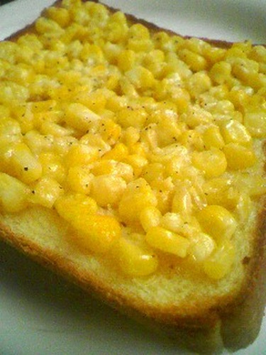 Toast with Corn and Butter