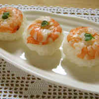 Temari Sushi Balls with Shrimp