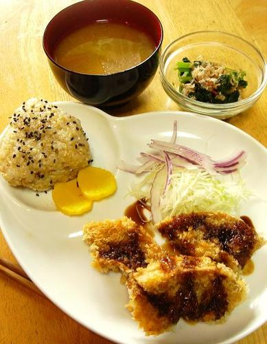 Macrobiotic Fried Kurumabu (mock pork cutlet)
