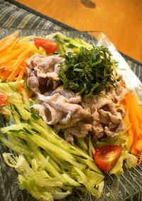 Chilled Pork Shabu-Shabu Salad