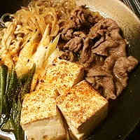 My Family's Sukiyaki-style Meat and Tofu