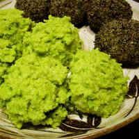 Vibrant Green Creamy Zunda Edamame Mochi (Ohagi)