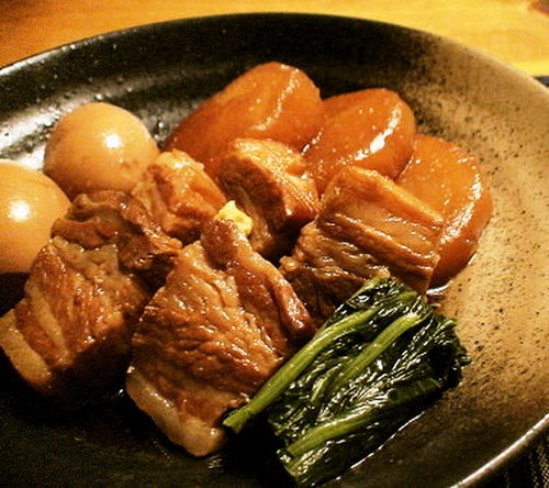 Pork Belly Simmered with Daikon Radish