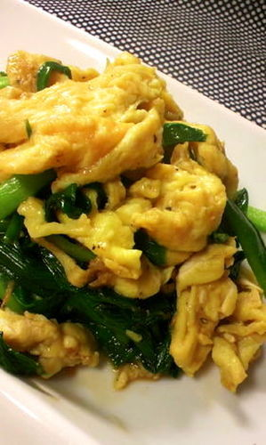 Chives With Eggs--Goes Great With Rice
