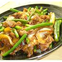 Pork & Garlic Shoots Twice-Cooked Pork-Style Fry
