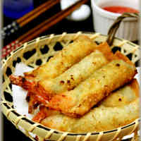 Crispy Shrimp and Shiso Leaf Gyoza Rolls