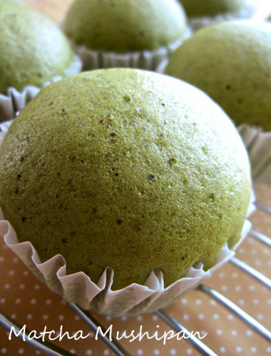 Matcha Steamed Bread with Pancake Mix