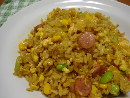 With Yakisoba Sauce Curry Flavored Fried Rice
