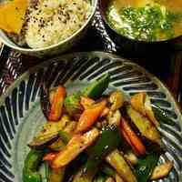 Macrobiotic Wheat Gluten and Vegetable Stir-fry