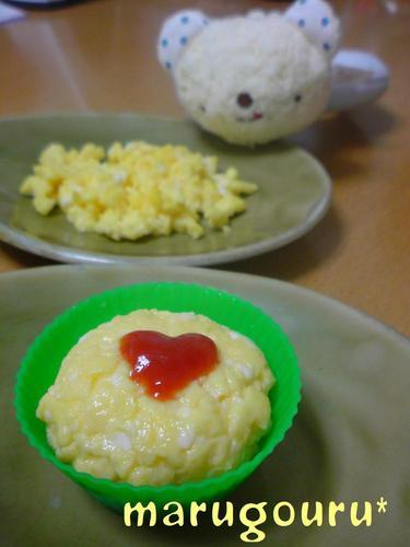 Microwaved Iri-Tamago Fine Scrambled Eggs And Egg Balls