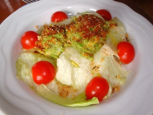 Lettuce and Avocado Salad