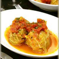 Cabbage and Cheese Rolls in Tomato Sauce