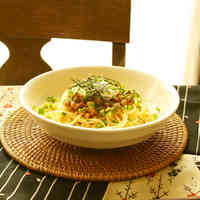 Natto and Umeboshi Spaghetti