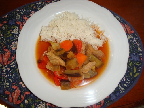 Easy Sweet and Sour Pork with Chutney