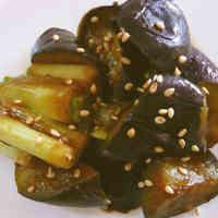 Eggplant and Japanese Leek Stir-fry with Miso