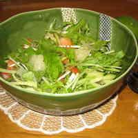 Mizuna Salad with Kabosu Citrus Balsamic Dressing