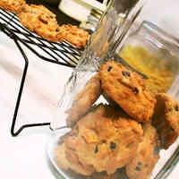 Chocolate and Banana Chip Cookies