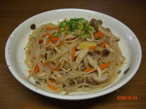 Stir-Fried and Simmered Vegetables With Mushrooms and Konnyaku