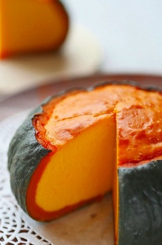 Whole Kabocha Squash Baked Cheesecake