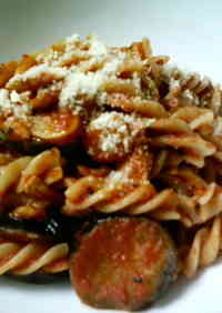 Chicken and Eggplant Tomato Sauce Pasta