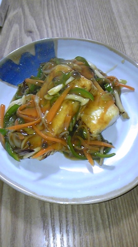Tofu with Thickened Vegetable Sauce