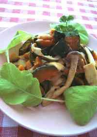 Warm Kabocha Squash and Mushroom Salad with Miso Mayonnaise