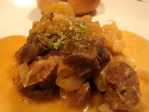 Beef Shank Simmered in White Wine