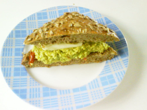 Tomato and Cheese Sandwich with Pesto alla Genovese
