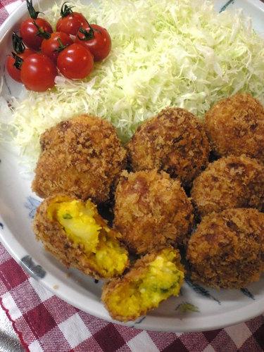 Kabocha Squash and Potato Salad Croquettes