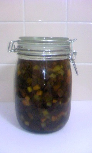 Dried Fruits Preserved in Rum