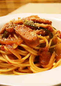 Tomato-Filled Napolitan Spaghetti for Lunch