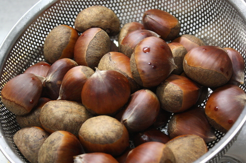 Boiled Chestnuts Using a Pressure Cooker