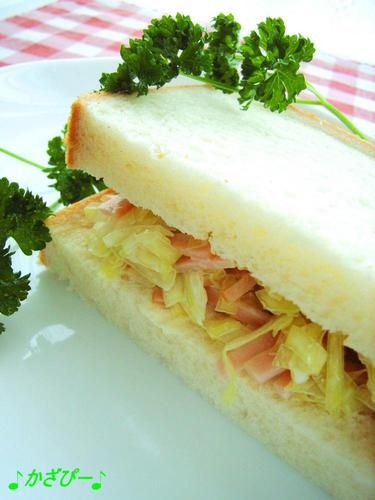 My Mother-in-Law's Cabbage and Ham Sandwich with Mayonnaise
