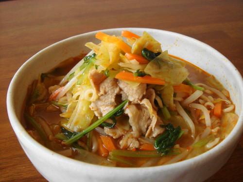 Stamina Boosting with Plenty of Vegetables Miso Ramen Noodles