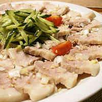 Tender Boiled Pork with Korean Dressing