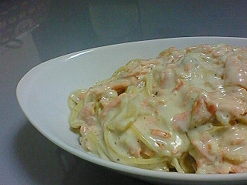 Easy Salmon Cream Pasta