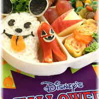 Mickey Mouse Onigiri Ghost * Character Bento for Halloween