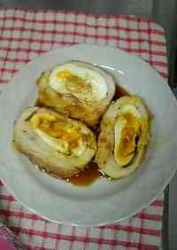 Teriyaki Chicken with Cheese and Eggs