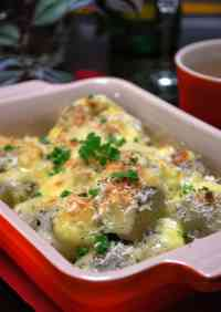 Piping Hot Taro Root Baked in Cheese