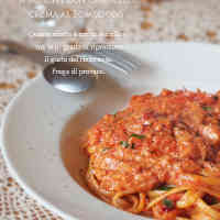 Crab Tomato Cream Pasta Using Tinned Crabmeat