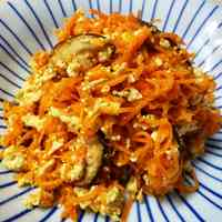 Crumbled Tofu and Carrot With Sesame