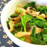 Stir-Fried Pork and Spinach
