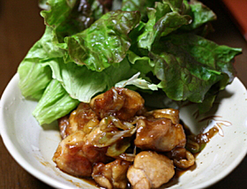 Yakitori-style Chicken in a Frying Pan